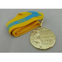 China Gold Plated Ribbon Medals 3D on sale
