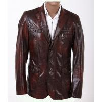 China 100% Viscose and Knitting, Size 46, Size 48, Luxury and Designer Mens Leather Blazers on sale