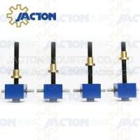 Quality Powerful and Durable JTC50 50kn Flange Mechanical Pressing Clearance Adjustment Screw Jack wholesale