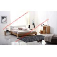 Quality Streamline curved bed head in white painting and wood plate furniture wholesale