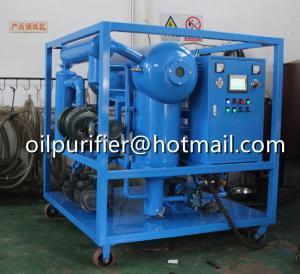 China Horizontal Vacuum Oil Purifier, Fully automatic PLC Touch screen transformer oil purification equipment on sale