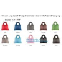 Quality Eco-Friendly Reusable Polyester Foldable Shopping Bag,Custom Gift Promotional 210D 420D Polyester 190T Nylon Small Draws wholesale