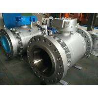 China BS 5159 API 607 Trunnion Mounted Ball Valve Gear Long Pattern B16.5  B16.47  B16.25 on sale