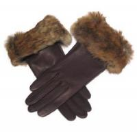 Quality Lady′s Brown Fashion Leather Gloves (CF5468) wholesale