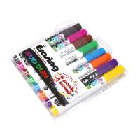 Quality Assorted Colored Dry Erase Board Markers Low Odor Comfortable Grip wholesale