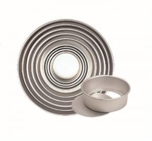 China Cake Aluminum 254x248x80mm Round Non Stick Baking Tray on sale