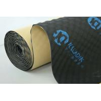 Quality 8mm Wave Shape Sound Absorbing Mat Easy Install Black Closed Cell Foam ISO9001 wholesale