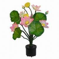 China Silk Lotus Christmas Flower, Artificial Type, Fiber Optic Xmas Tree and Flower Centerpiece on sale