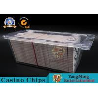 Quality Clear Acrylic 1 - 8 Deck Playing Card Box 300pcs Free Locks With Metal Handle wholesale