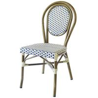 Quality Light Weight Armless Paris Bamboo Rattan Bistro Dining Chairs wholesale