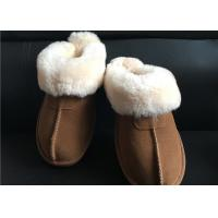 Cheap Ladies Australian sheepskin lined slipper mules 100% sheepskin shearling lining for sale