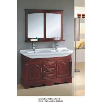 Quality Cherry color traditional double sink vanity , custom bathroom vanities ISO2000 standard wholesale