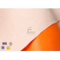 Cheap Orange Silicone Rubber Coated Fiber Glass Fabric Thermal Insulation Materials for sale