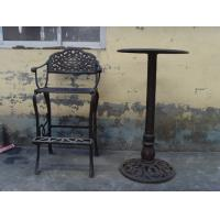 Quality Classic Metal Cast Iron Table And Chairs Black For Home Decoration wholesale