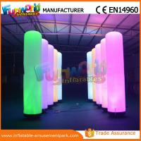 Quality Christmas Party / Wedding Inflatable LED Lighting Pillar 1 Year Warranty wholesale