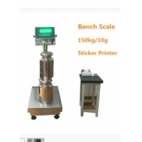 Quality 150Kg Bench Platform Weighing Scale Heavy Duty WF4050 With Sticker Printer wholesale