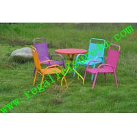China 2013 popular outdoor sling stacking kids table back chair RLF-T110889 on sale