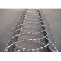 China High Security Powder Coated Barbed Wire Fence For Express Highway Guardrails on sale