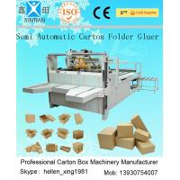 Quality Semi Automatic Carton Folding Gluing Machine Automatic Corrugation Machine wholesale