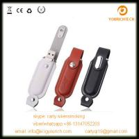 China new!high quality usb 1gb-64gb black leather usb flash drive on sale