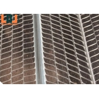 Firm 16x11 Mesh Expanded Metal Lath Length 2500mm For Construction for sale