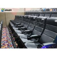 Quality Metal Screen Modern Interactive 4D Movie Theater With Chair Effects Vibration Seats wholesale