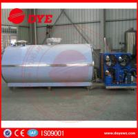 Cheap Large Scale Stainless Steel Horizontal Milk Cooling Tank 380v / 220v 2000L for sale
