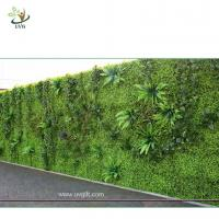 Quality UVG green leaf artificial grass wall with high imitation plants for outdoor decoration GRW01 wholesale