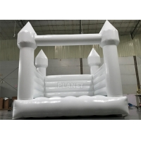 China Commercial White Inflatable Slide Bouncer Jumping Castle For Party on sale