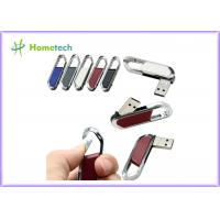 China High Speed Leather USB Flash Disk 64gb / USB 2.0 Pen Drive 4gb With FCC RoHS Standard on sale