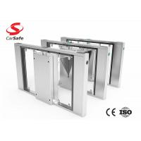 China Slim Flap Barrier Gate  Speed Pass Durable  Electronic Turnstile Gates on sale