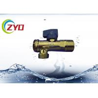 China Low Pressure Plumbing Angle Valve , Iron / Brass Triangle Valve S.S Filter Net on sale
