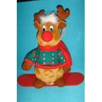 Quality Lovely Dressed Reindeer Soft Velboa as Personalised Christmas Gifts with ODM Available wholesale