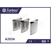 Quality Acrylic Access Control Turnstile Gate , Flap Barrier Gate With Biometric Card Reader wholesale