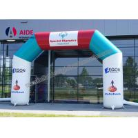 Quality Free Logo Print Air Entrance Arch Inflatable Sports Tunnels For Running Race wholesale