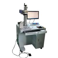 Cheap Stainless Steel Cylinder Fiber Laser Marking Machine with Rotary Axis AC110V for sale
