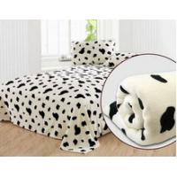 China Customized Printing Polar Personalized No Sew Fleece Blanket for Airplane , Home , Hotel on sale