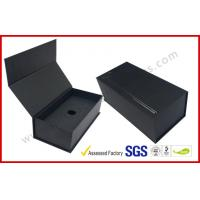 Quality Black High End Embossed Paper Boxes Magnetic E-Cigar Packaging wholesale