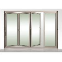 Quality Kitchen Anodized Alu Glass Foldable Windows With Frosted Tempered Glass wholesale