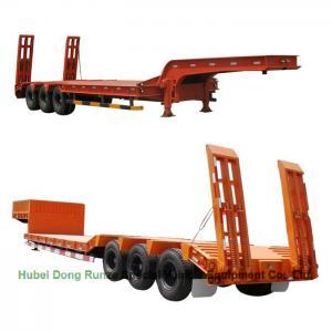 Quality Gooseneck  Tri-axle Hydraulic Ladder Lowbed Semi Trailer Heavy Machine 60ton,80Ton wholesale