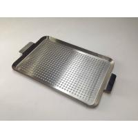 Quality SS 201 304 316 Perforated Baking Tray Silver Color For Bbq And Household wholesale