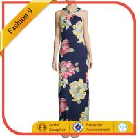 Quality Floral-Print Maxi Halter Dress maxi dress wholesale