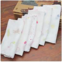 Quality Durable Food Grade Muslin Cloth Eco Friendly Hypoallergenic Beach Used 35*35cm wholesale
