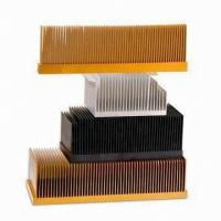 Quality T4 , T5 Clear Smooth Aluminum Heatsink Extrusion Profiles With Wood Chromizing / Chromising wholesale