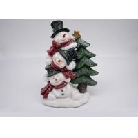 Quality Logo Customized Polyresin Crafts Snowman Christmas Tree Decorations Figurines Gifts wholesale