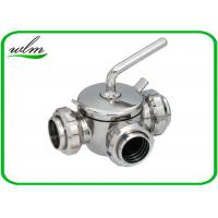 Quality 10 Bar Hygienic Valves Straight Way Three Way Plug Valve With Rapid Assembly wholesale