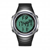 Quality Interchangeable Bezel Silicone Sports Watch , Backlight Lcd Digital Watch wholesale