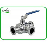 Quality SS304 316L Stainless Steel Sanitary Manual Three Way Ball Valves for Hygienic Pipeline Applications wholesale