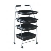 Quality 4 Layers Custom ABS Plastic Hair Salon Hand Trolley Cart with Anti Abrasion wholesale