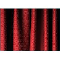 Quality Wine Red 4 Way Stretch Mesh Spandex Polyester Fabric Tear Resistant wholesale